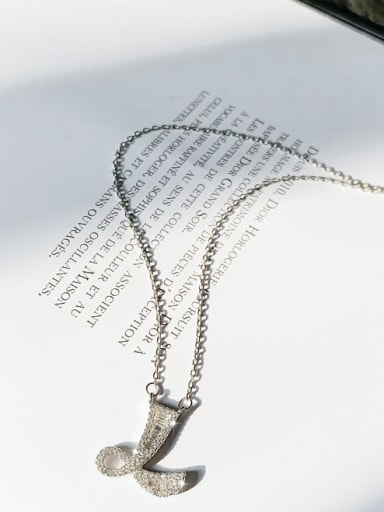 Zinc Alloy Rhinestone Letter Classic Initials Necklace