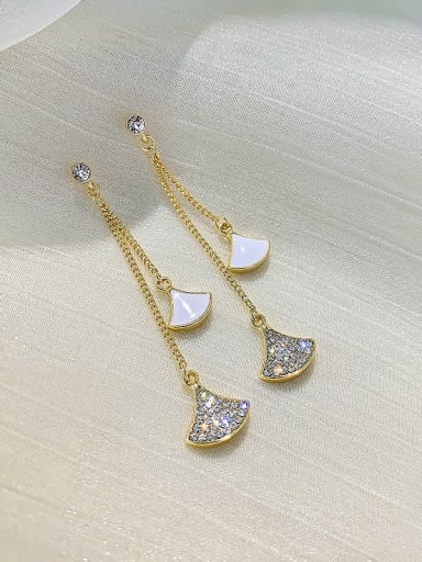 White Earrings Zinc Alloy Cubic Zirconia White Enamel Trend Drop Earring/Necklaces