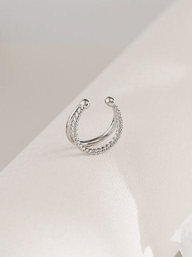 platinum Copper Geometric Trend Stackable Ring
