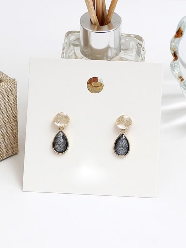 grey Copper Acrylic Water Drop Vintage Drop Earring