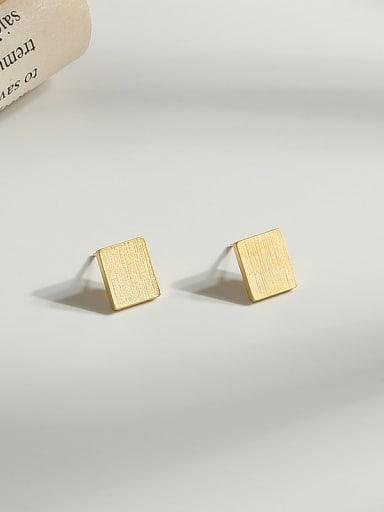 Copper Gold Geometric Minimalist Stud Earring