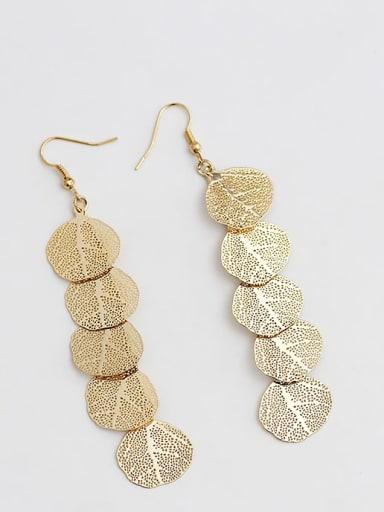 18K gold Copper Tree Bohemia Hook Earring
