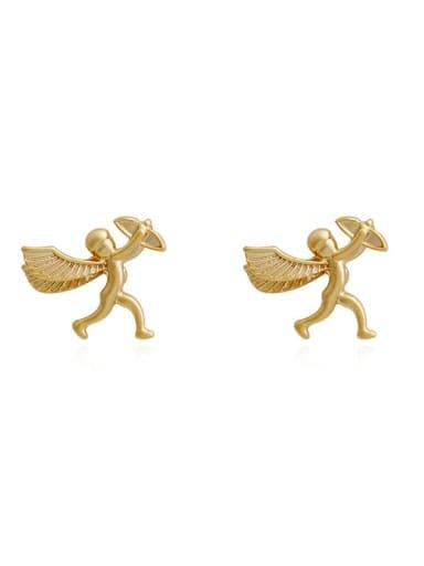 Copper Angel Cute Stud Earring