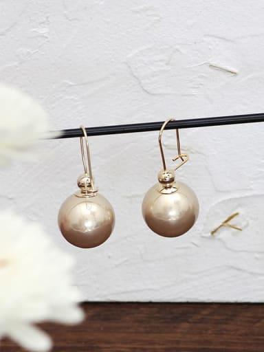 rose gold Copper Enamel Geometric Minimalist Hook Earring