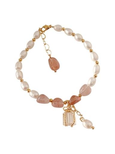 Alloy Imitation Pearl Geometric Bohemia Adjustable Bracelet