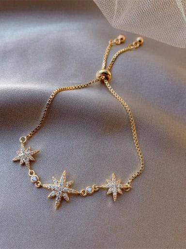 Alloy Cubic Zirconia Star Cute Adjustable Bracelet