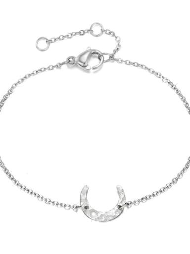 Stainless steel Moon Minimalist Link Bracelet