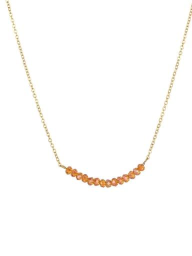 YX16893 Stainless steel Round Minimalist Necklace