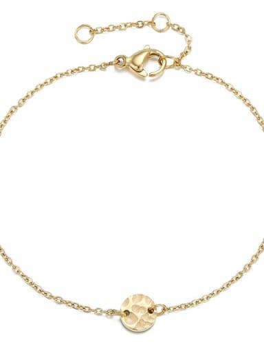golden Stainless steel Round Minimalist Bracelet