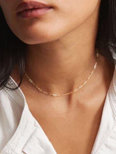 Titanium Irregular Minimalist Link Necklace