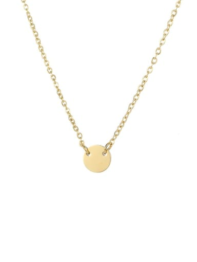 gold Plated Stainless steel Locket Minimalist Initials 6mm 6mm Necklace