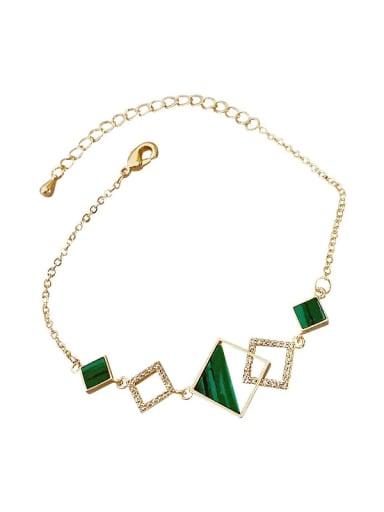 Alloy Enamel Geometric Minimalist Link Bracelet