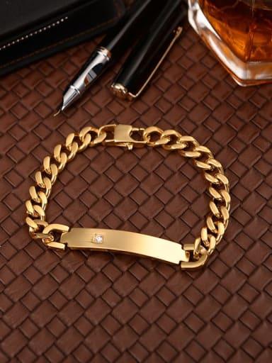 Titanium Zircon Minimalist Link Bracelet