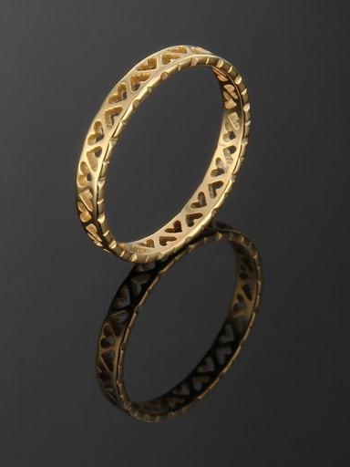 Titanium Hollow Heart Band Ring