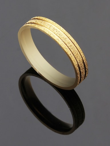 golden Titanium Rosary Minimalist Band Ring