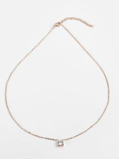 Titanium Cubic Zirconia Locket Necklace