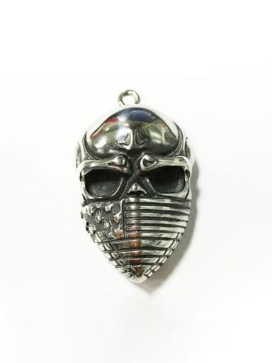 Titanium Skull  Vintage Pendant
