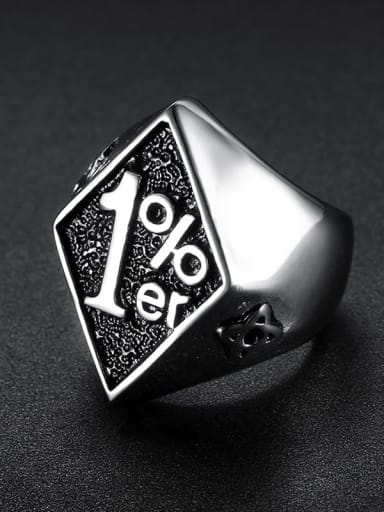 Stainless steel digital Triangle Vintage Band Ring