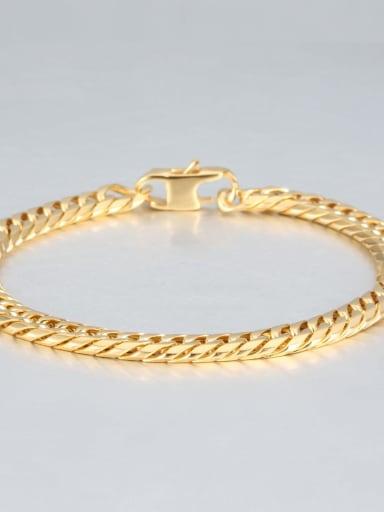 Gold (0.7cm wide) Titanium Vintage Fashion Multi Color Polished Titanium Steel Bracelet