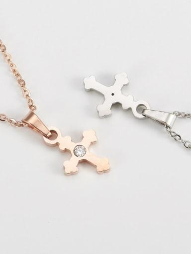 Titanium Religious Minimalist  cross Necklace