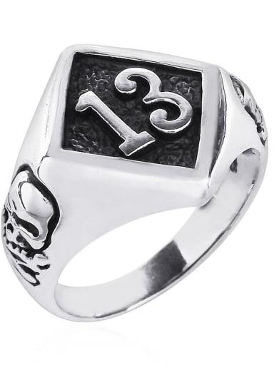 Golden and Retro Black Stainless steel Skull Band Ring
