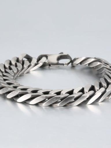 Retro (1.2cm wide) Titanium Geometry Minimalist Link Bracelet