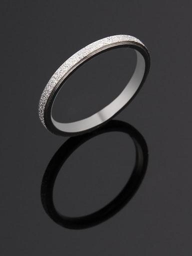 Steel color Titanium Steel yarn  Round Minimalist Ring