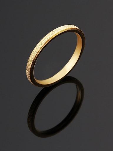 golden Titanium Steel yarn  Round Minimalist Ring