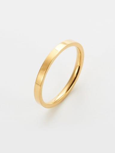 golden Titanium Round Minimalist Band Ring