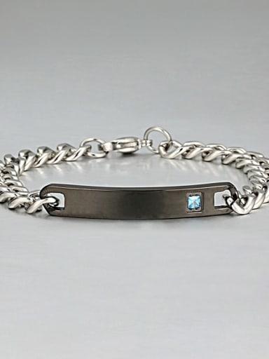8  black Titanium Cubic Zirconia Minimalist geometry  Link Bracelet