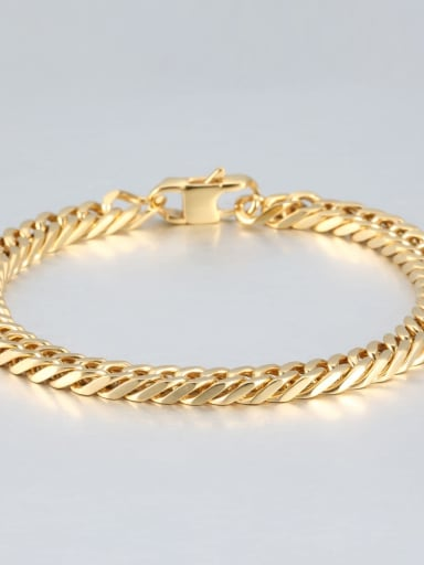 Gold (0.6cm wide) Titanium+smooth Minimalist Chain