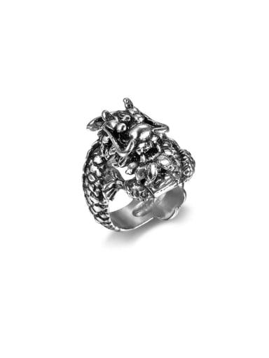 Titanium Dragon Vintage Band Ring