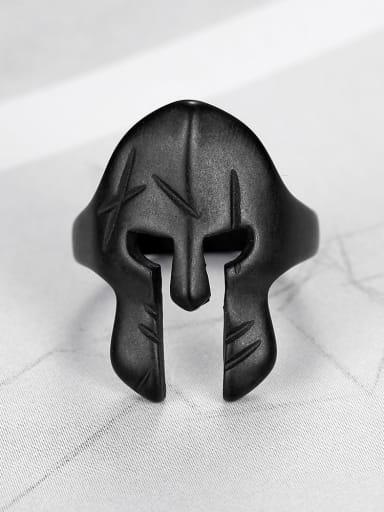 Titanium Face  Geometric Vintage Band Ring