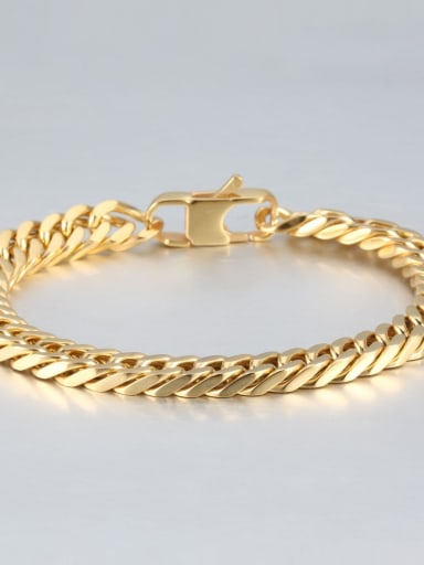 Gold (0.8cm wide) Titanium+smooth Minimalist Chain