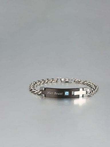 2 Titanium Smooth Minimalist Link Bracelet