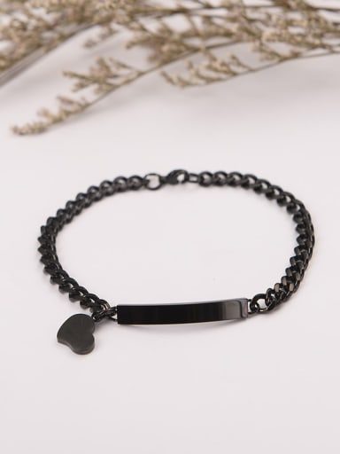Titanium Heart Minimalist Bracelet