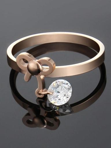 Titanium Bowknot Minimalist Band Ring