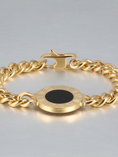 golden Titanium Number shell Luxury Bracelet
