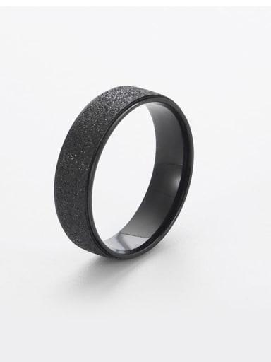 black Titanium Gold dust Simple round Band Ring