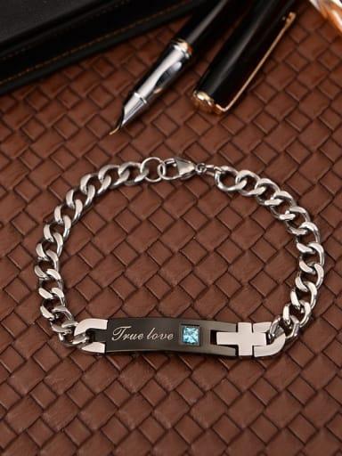 Titanium Geometric Minimalist Link Bracelet