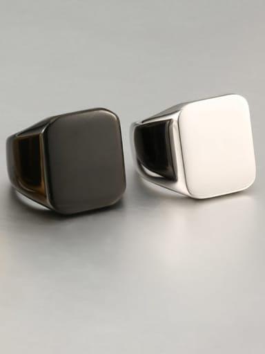 Titanium Square Minimalist Mens Ring