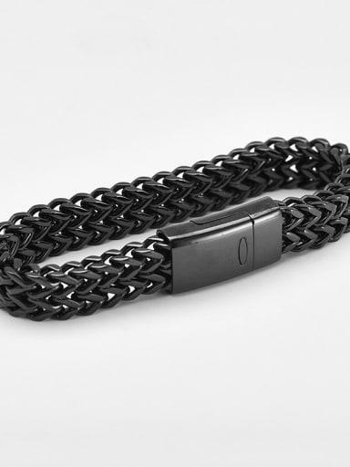 19cm black Titanium Minimalist Link Bracelet