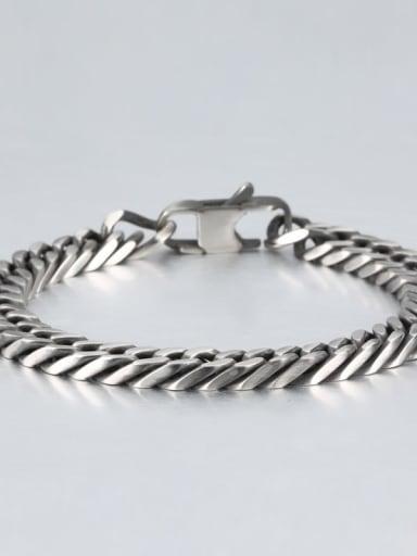 Retro (0.8cm wide) Titanium Geometry Minimalist Link Bracelet