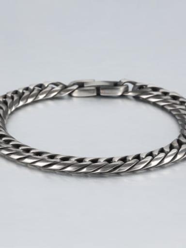 Retro (0.9CM wide) Titanium Geometric Minimalist Link Bracelet
