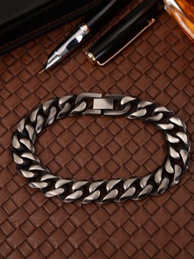 Titanium Smooth Minimalist Link Bracelet