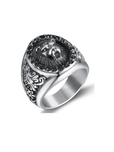 Stainless steel Lion Vintage Band Ring