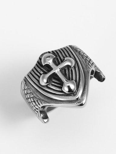Titanium Cross Vintage Mens Ring