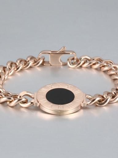 rose gold Titanium Number shell Luxury Bracelet