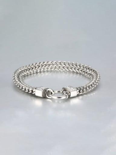 Steel color Titanium Double row Vintage Link Bracelet