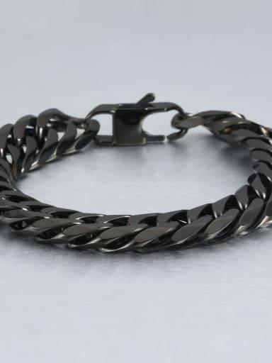Black (1.3cm wide) Titanium Vintage Fashion Multi Color Polished Titanium Steel Bracelet